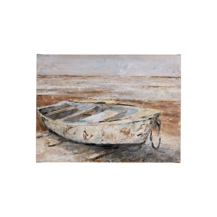 Weathered Rowboat I Wrapped Canvas Wall Art