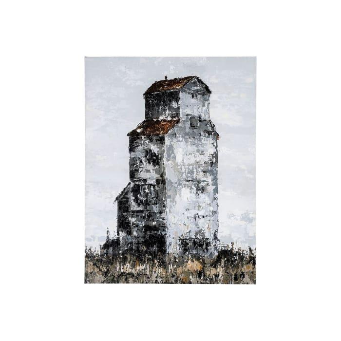 Abandoned Grain Elevator I Wrapped Canvas Wall Art