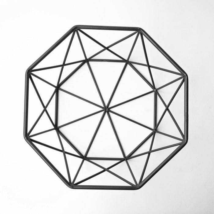 Davy Black Metal Hexagonal Bowl