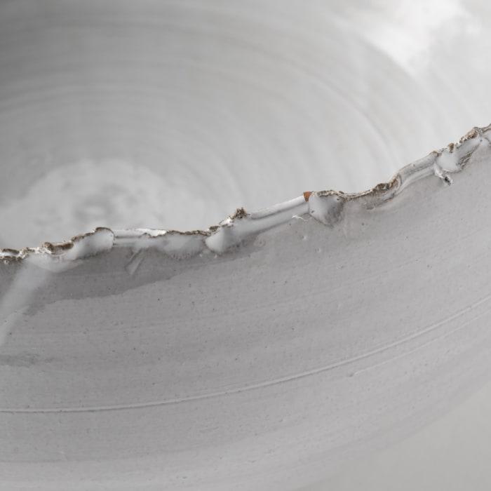 Larsen White Ceramic Decorative Bowl