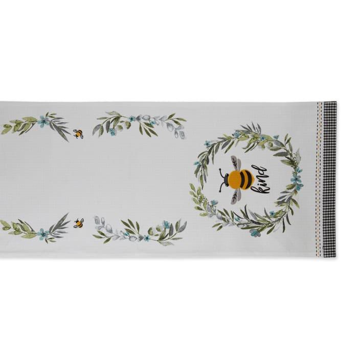 Bee Kind Reversible Embellished Table Runner