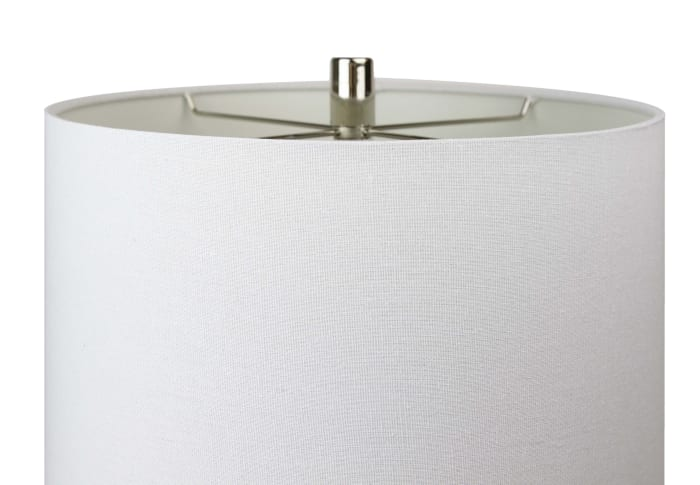 Polished Nickel Mirrored Metal Table Lamps