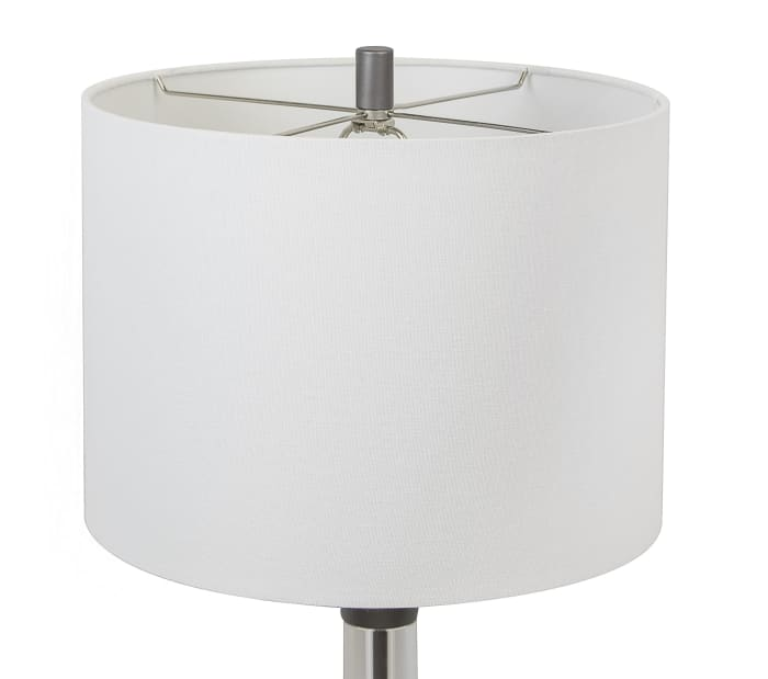 Contemporary Grey Slate with USB Charger in Base Table Lamp