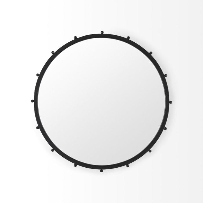 Elena II Medium Black Wall Mirror