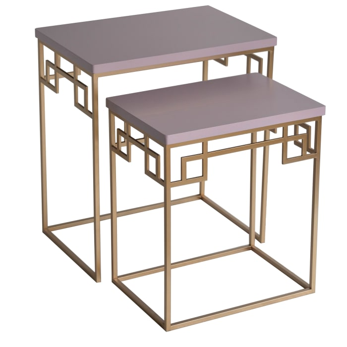 Braylon Set of Two Pink Nesting Accent Tables