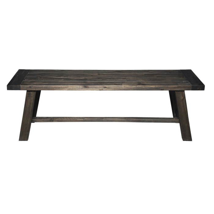 Newberry Wood Dining Bench in Salvaged Gray