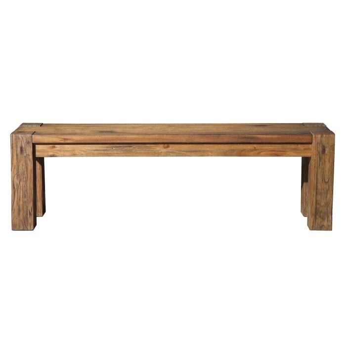 Shasta Wood Bench in Salvaged Natural (Brown)