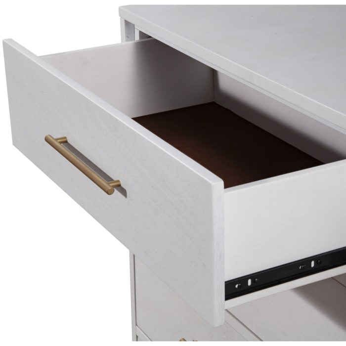Madelyn Three Drawer Wood Small Chest in White