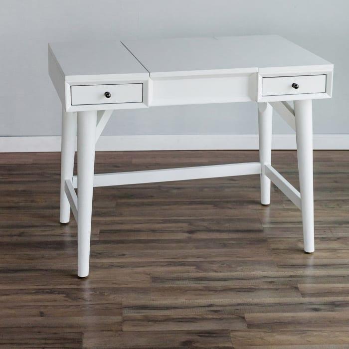 Flynn Wood Bedroom Vanity in White
