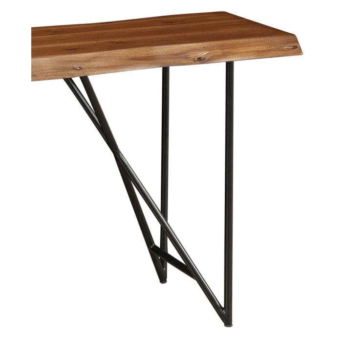 Live Edge Wood Sofa-Console Table in Light Walnut
