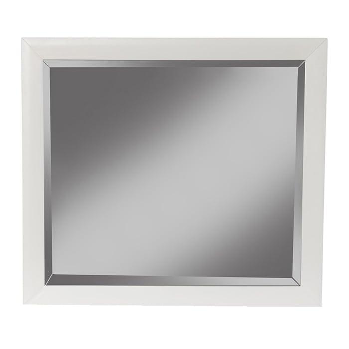 Flynn Mid Century Modern Mirror in White