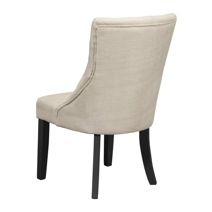 Prairie Set of 2 Upholstered Dining Side Chairs in Black