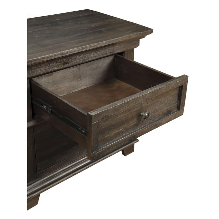 Newberry 2 Drawer Wood Nightstand in Salvaged Gray