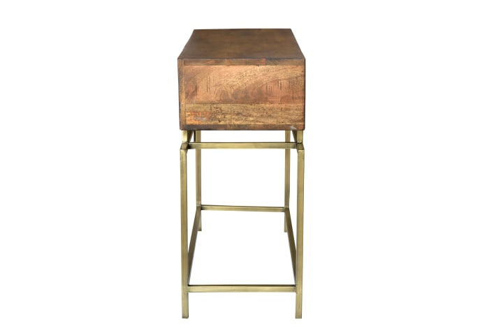 Goldbust 2 Drawer Console Table