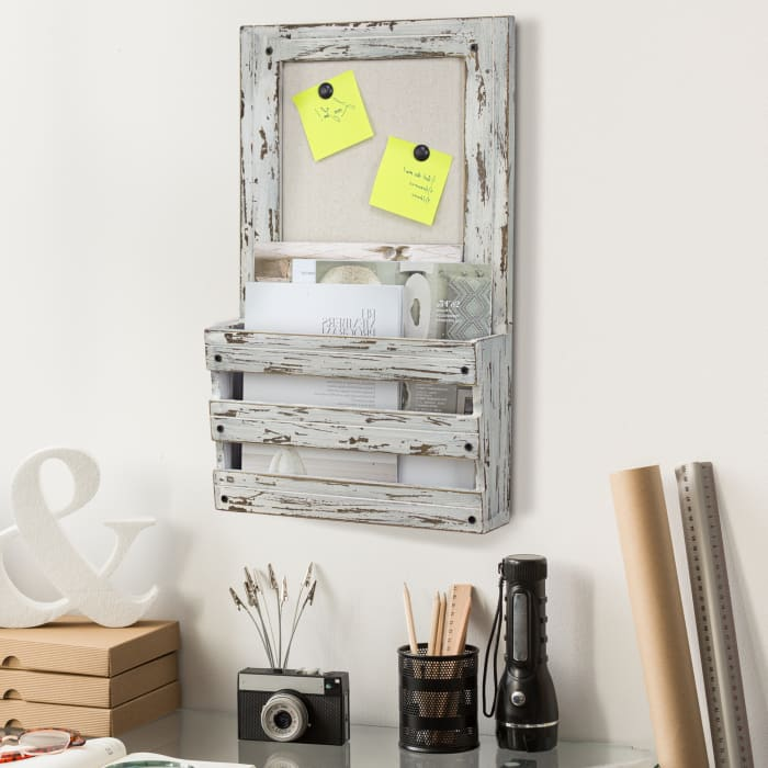 Hanging File Rack and Bulletin Board