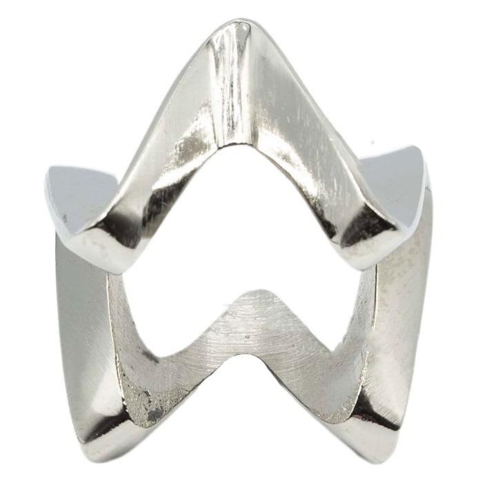 Pier 1 Metal Zigzag Napkin Ring Set of 6