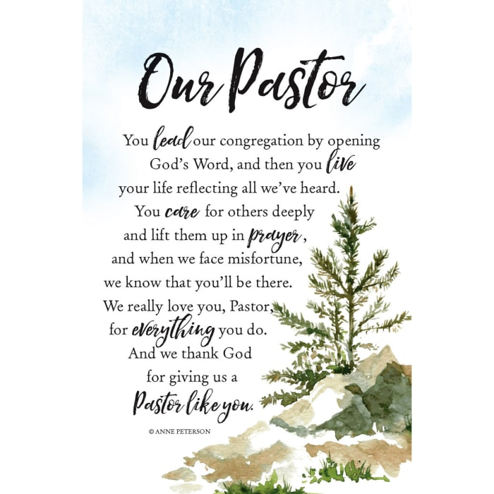 Our Pastor Wood Plaque with Easel