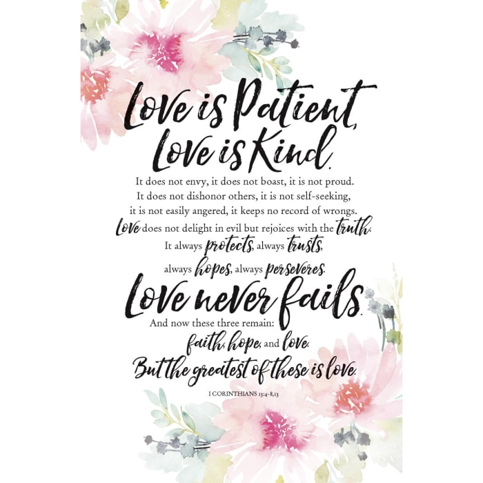 Love Is Patient Wood Plaque with Easel
