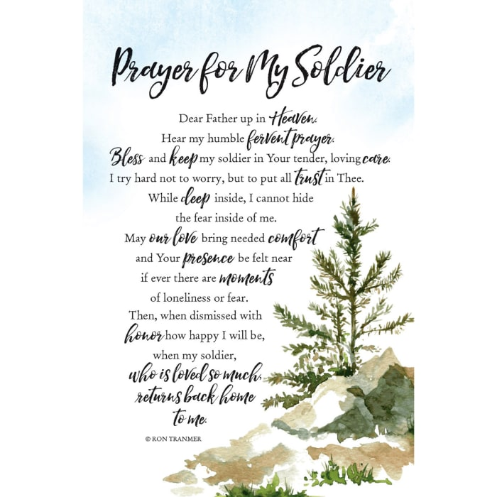 Prayer For My Soldier Wood Plaque with Easel