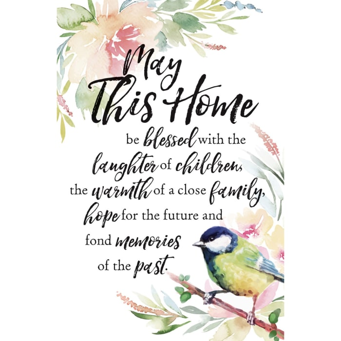 May This Home Wood Plaque with Easel