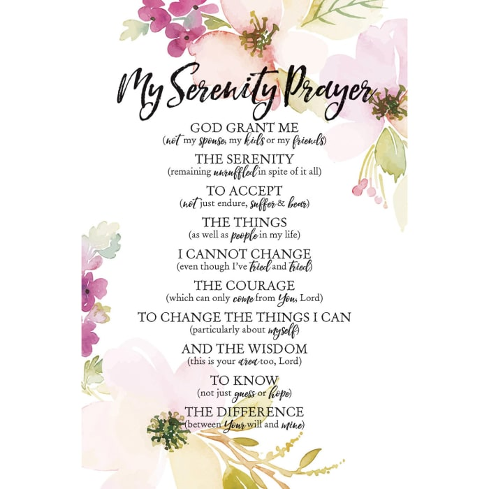 My Serenity Prayer Wood Plaque with Easel