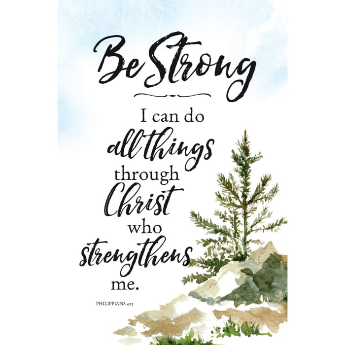 Be StrongI Can Do Wood Plaque with Easel