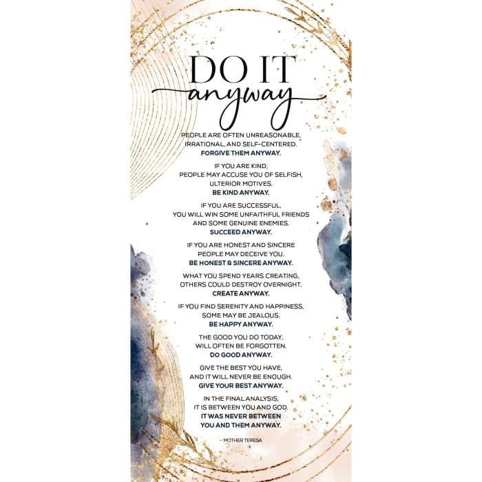 Do It Anyway Wood Plaque