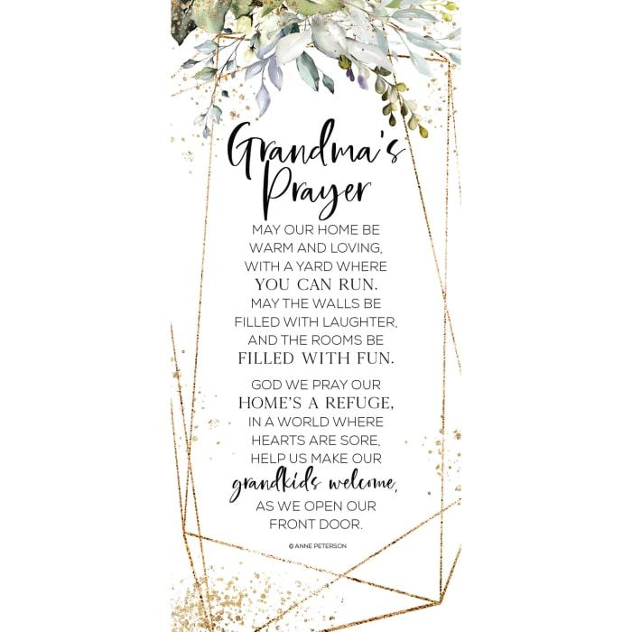 Grandma's Prayer Wood Plaque
