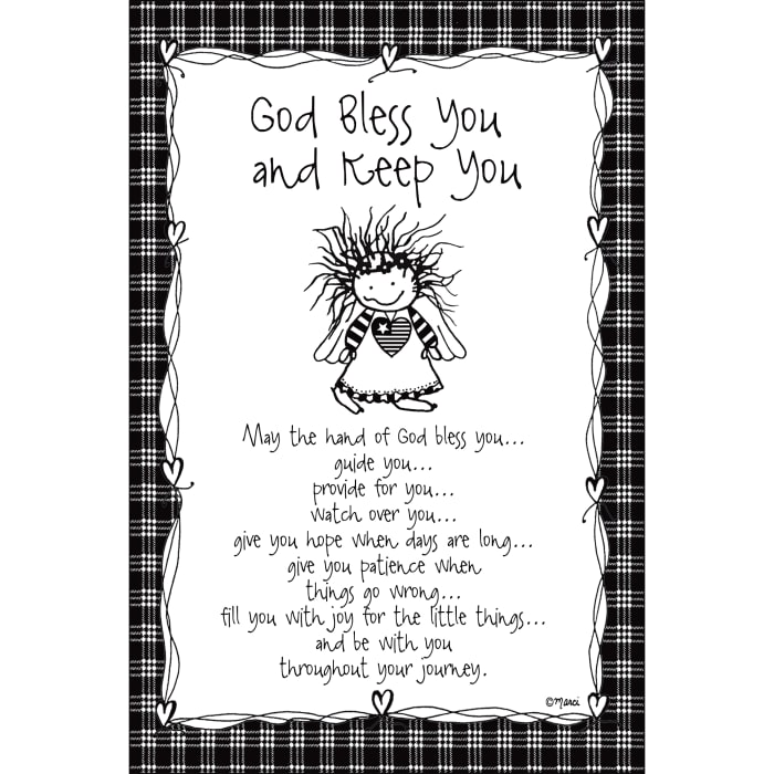 God Bless You & Keep You Children of the Inner Light Wood Plaque