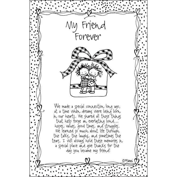 My Friend Forever Children of the Inner Light Wood Plaque
