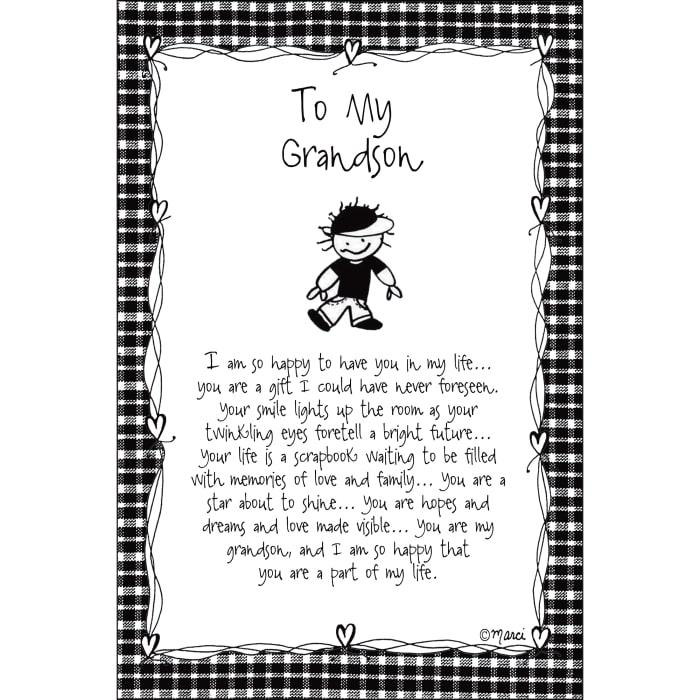 To My Grandson Children of the Inner Light Wood Plaque