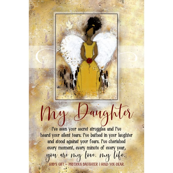 My Daughter Whispers of the Heart Wood Plaque with Hanger and Easel