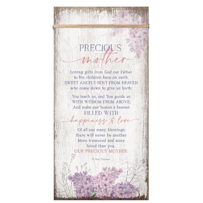 Precious Mother Wood Plaque