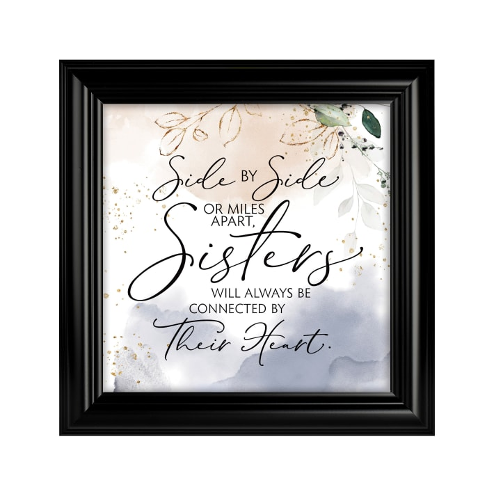 Side By SideSisters Heaven Sent Plaque Frame