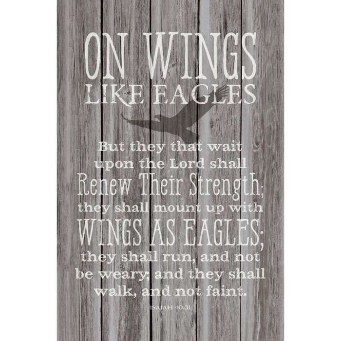 On Wings Like Eagles Wood Plaque with Easel