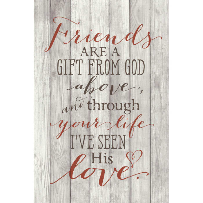 Friends Are A Gift Wood Plaque with Easel