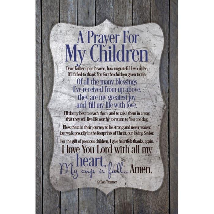 A Prayer For My Children Wood Plaque