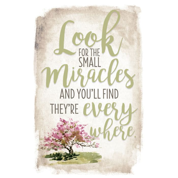 Look For Small Miracles New Horizon Wood Plaque with Easel