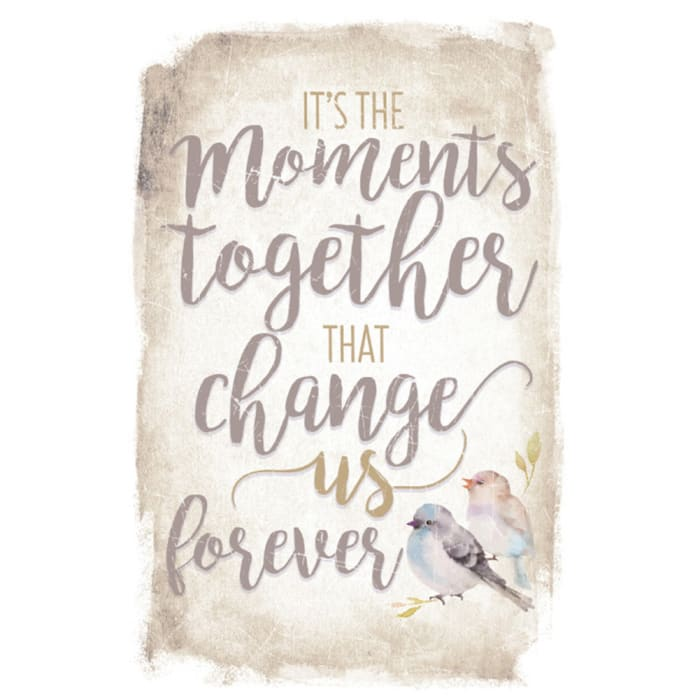 It's The Moments Together New Horizon Wood Plaque with Easel