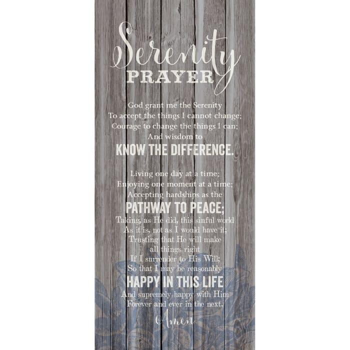 Serenity Prayer Wood Plaque
