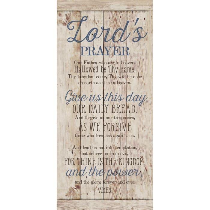 Lord'S Prayer Wood Plaque