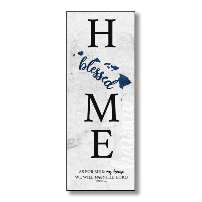Hawaii Home Blessed Wood Wall Plaque with Hanger