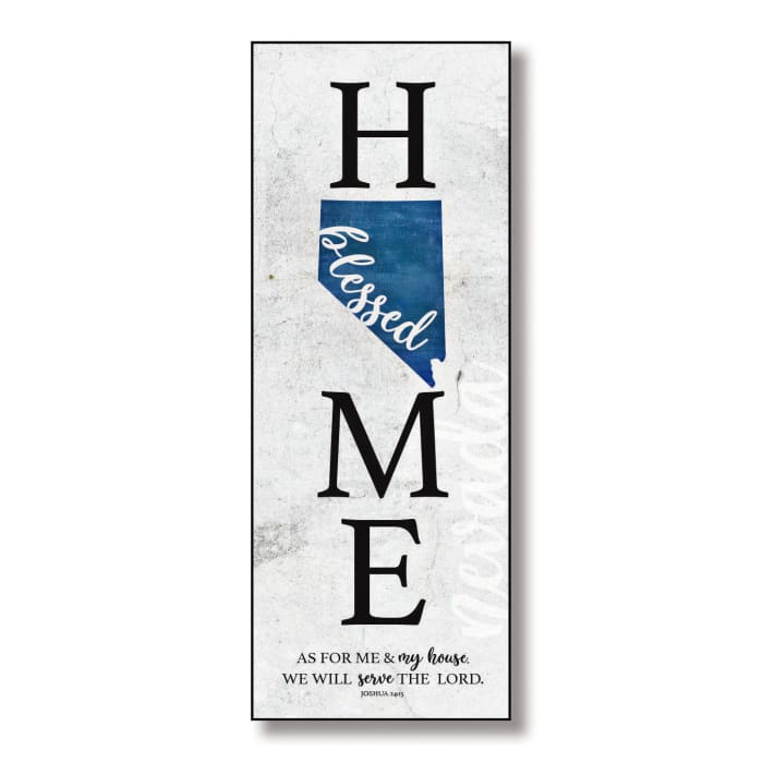 Nevada Home Blessed Wood Wall Plaque with Hanger