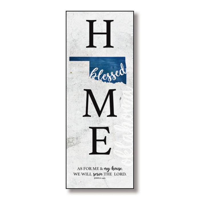 Oklahoma Home Blessed Wood Wall Plaque with Hanger