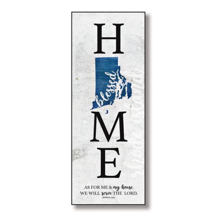 Rhode Island HomeBlessed Wood Wall Plaque with Hanger