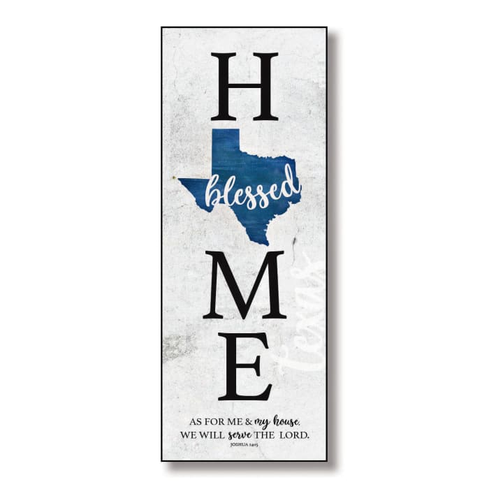 Texas HomeBlessed Wood Wall Plaque with Hanger