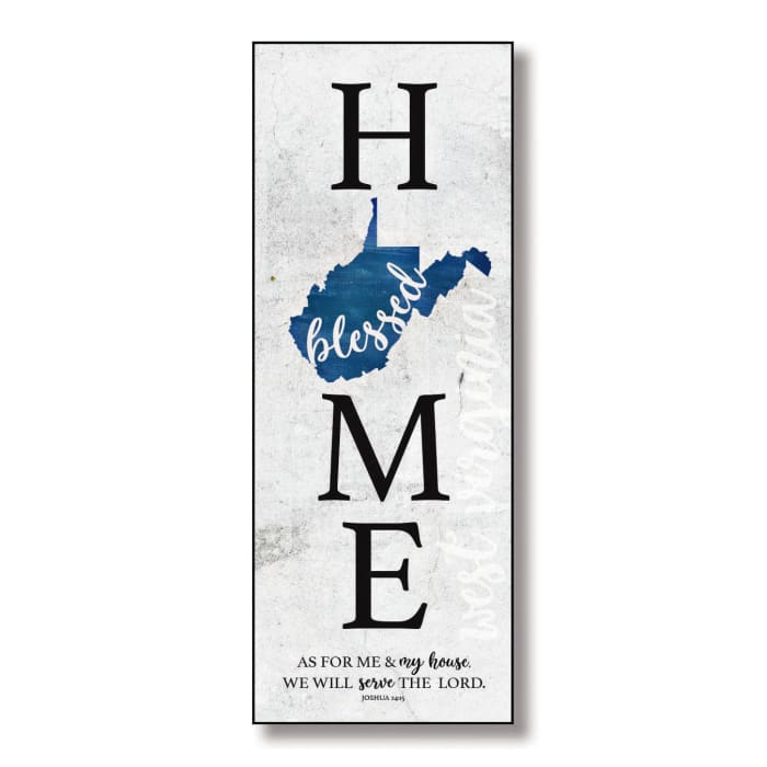 West Virginia HomeBlessed Wood Wall Plaque with Hanger