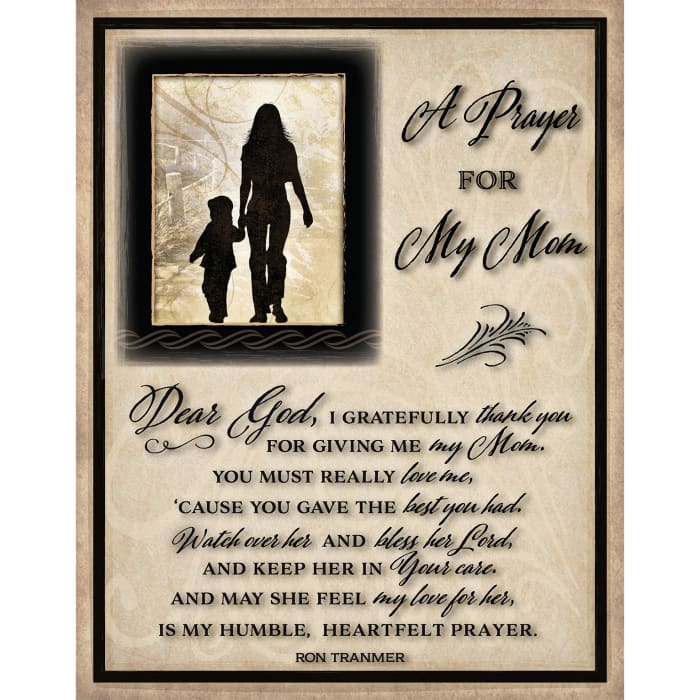 Prayer For My Mom Timberland Wood Plaque