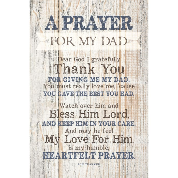 Prayer For My Dad Wood Plaque with Easel