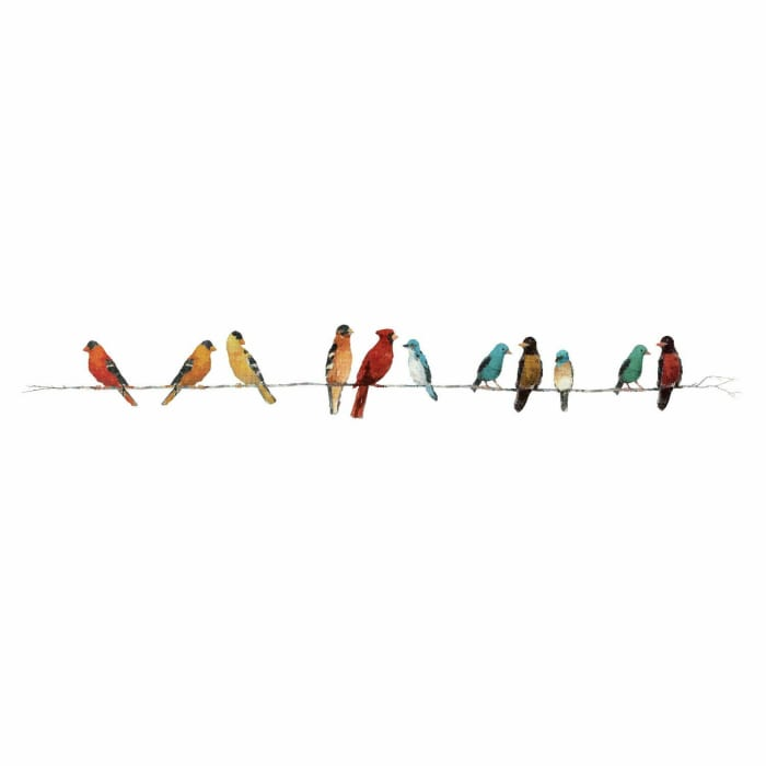 Song Birds Peel And Stick Wall Decals
